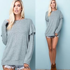 New! Long Sleeve Jersey Top